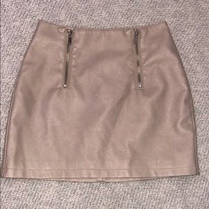 Faux leather Forever 21 skirt!